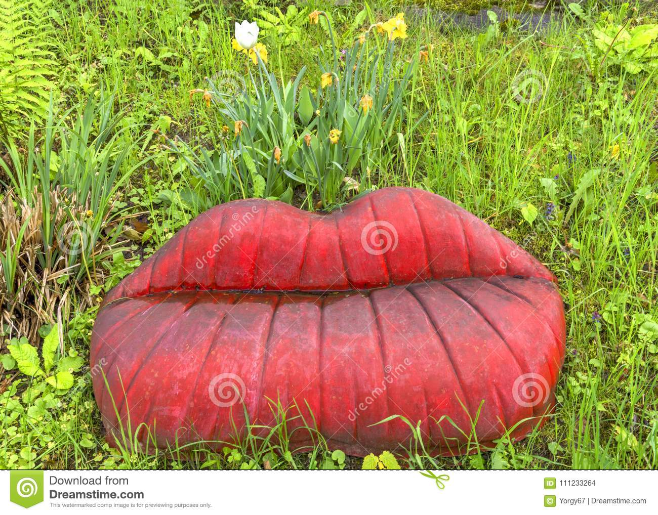 Lips shaped bench stock photo  Image of shaped, cute - 111233264