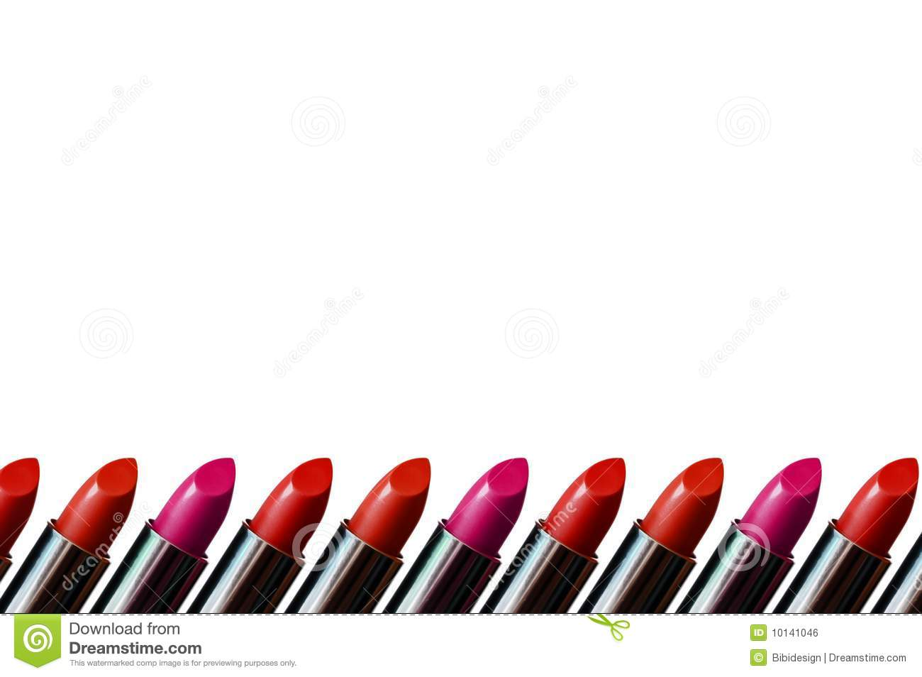 Lipstick Border Royalty Free Stock Image - Image: 10141046
