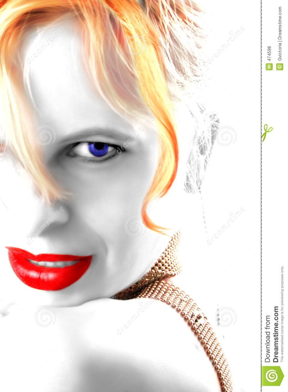 Download Lipstick and eyes stock illustration. Illustration of female - 474598