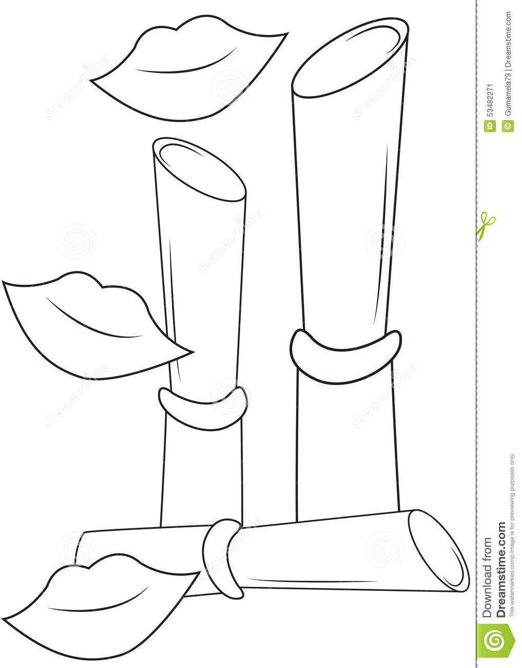 Lipsticks coloring page stock illustration image 53482271 for Lipstick coloring pages