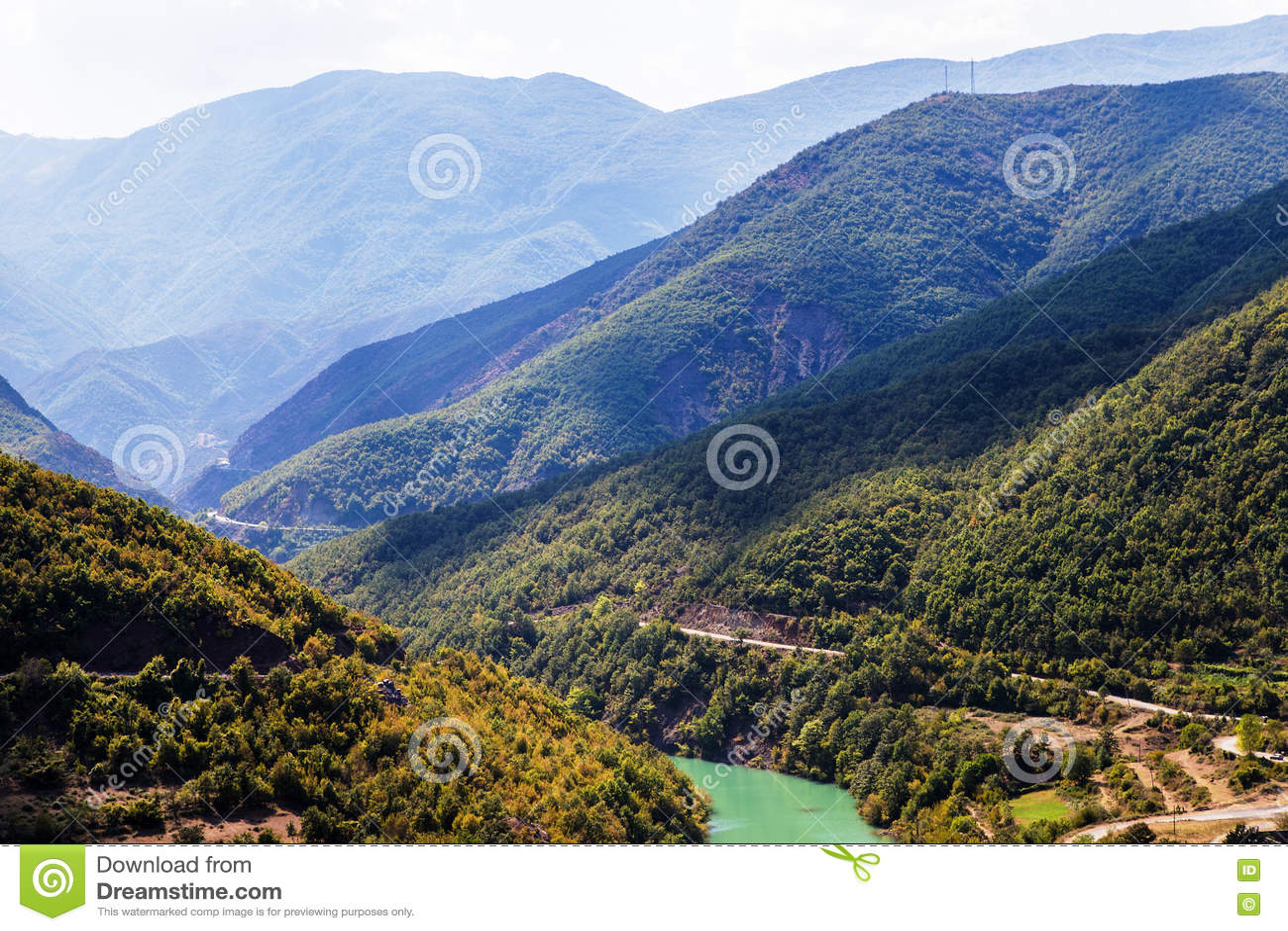 Liqueni/Ulzes river in Albania