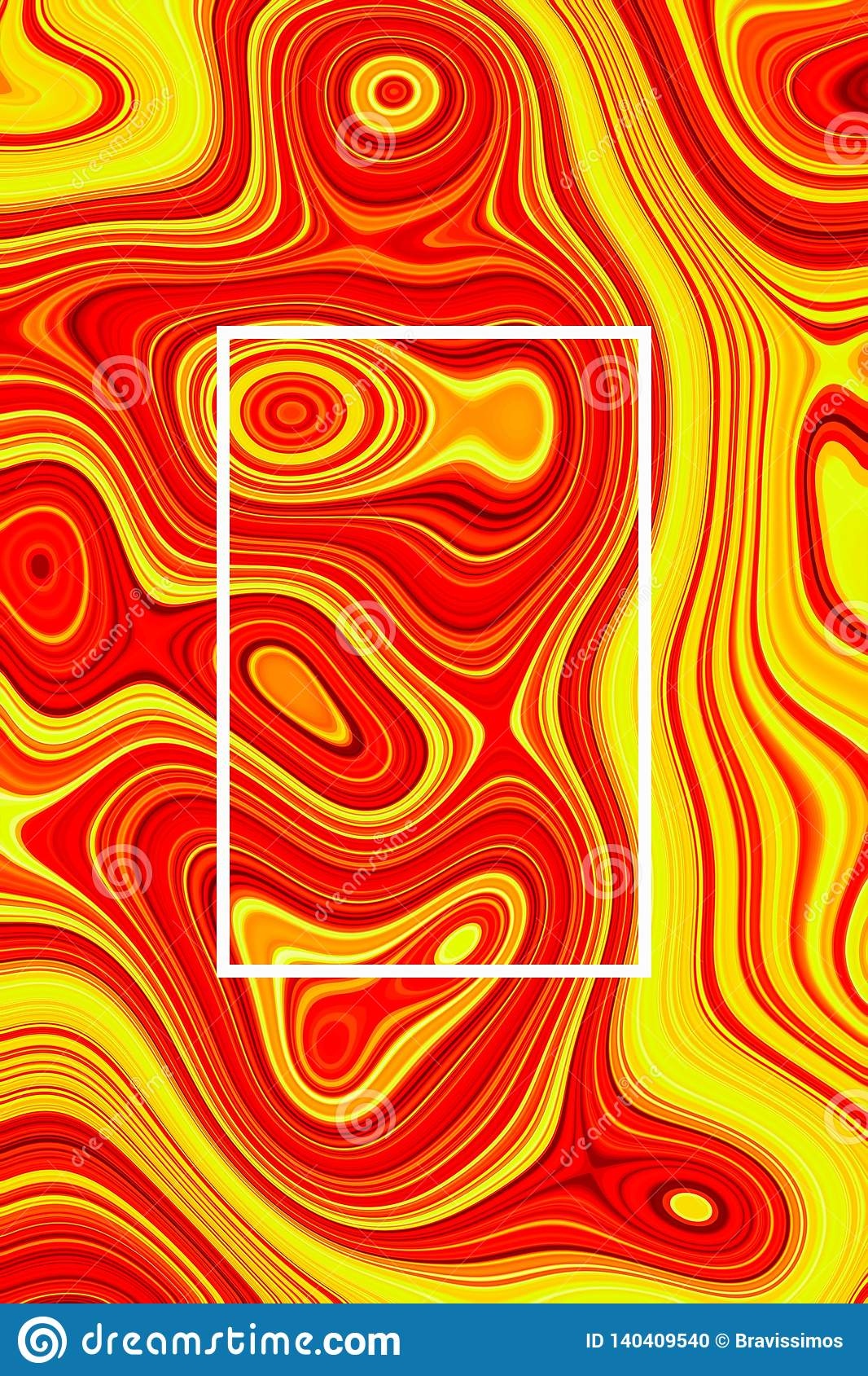 Liquid Abstract Orange Poster And Lava Background Wallpaper