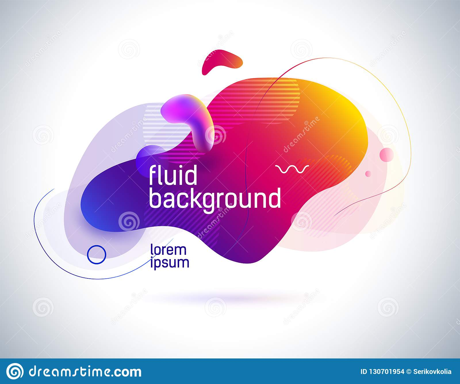 Modern Colorful Flow Poster Wave Liquid Shape In Color