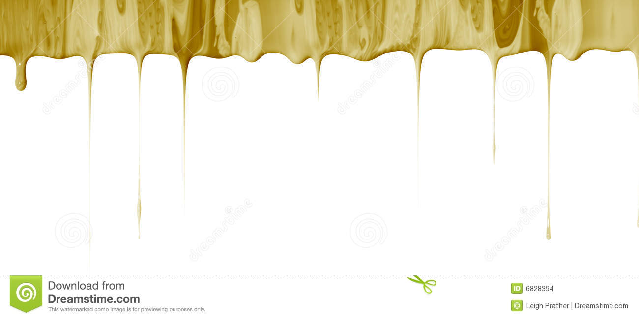 Liquid Dripping Border Stock Images - Image: 6828394