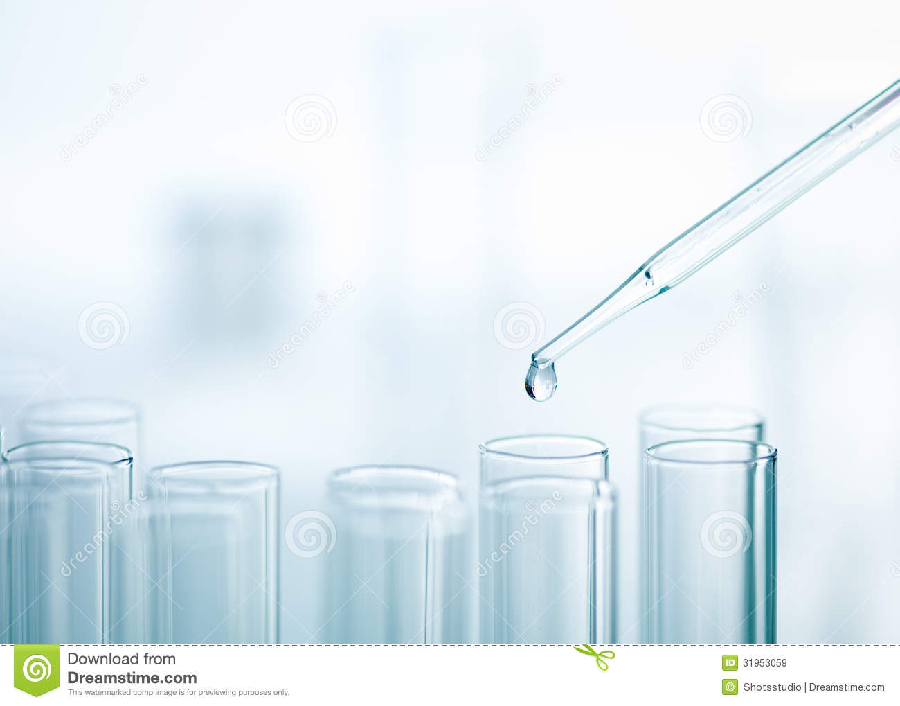 Liquid Drop From Pipette To Test Tube Royalty Free Stock ...