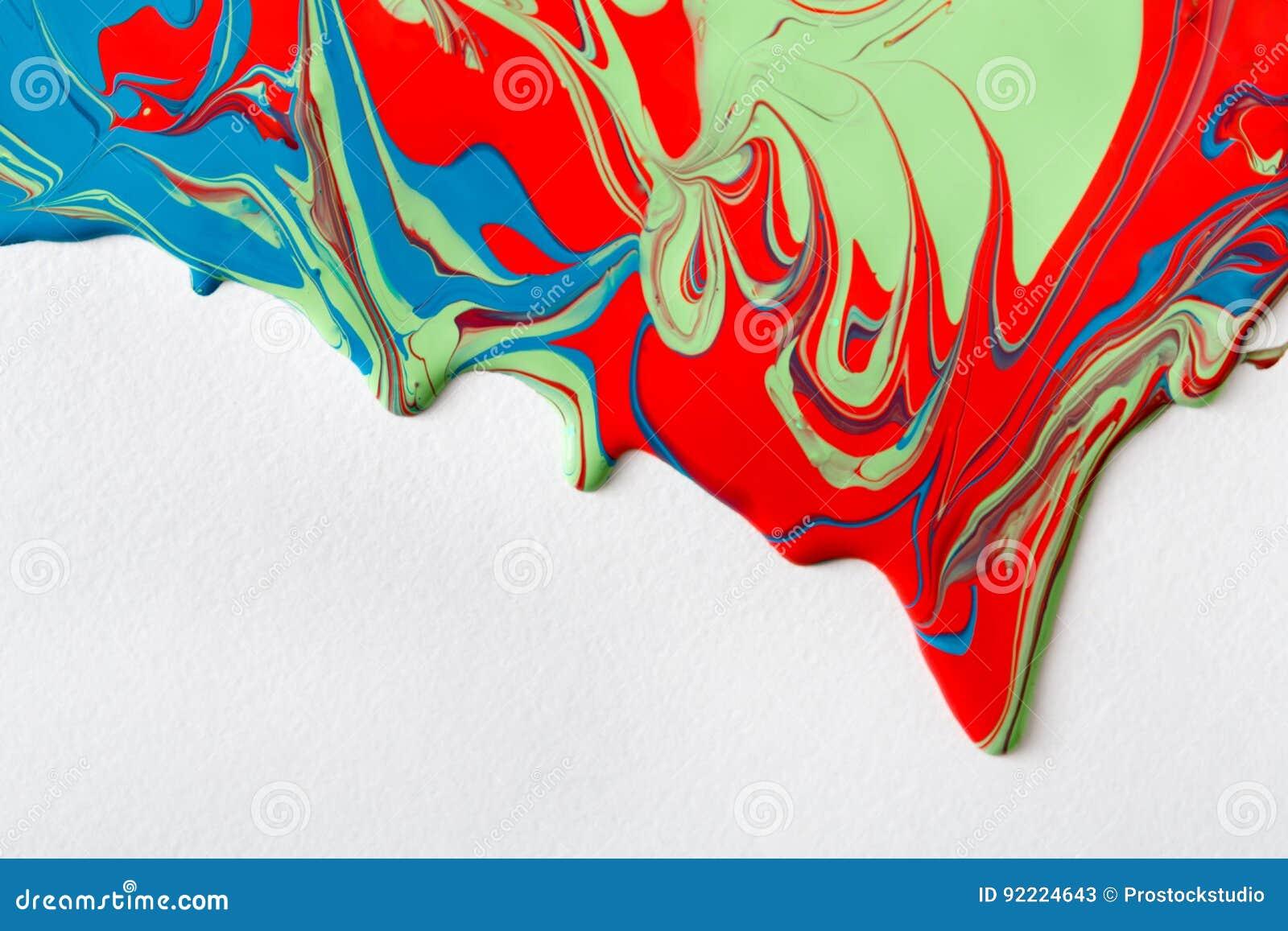 Liquid Marbling Acrylic Paint Background Fluid Painting