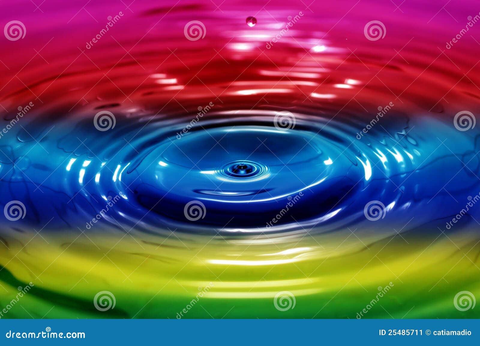 Liquid rainbow stock image. Image of rainbow, ideational ...