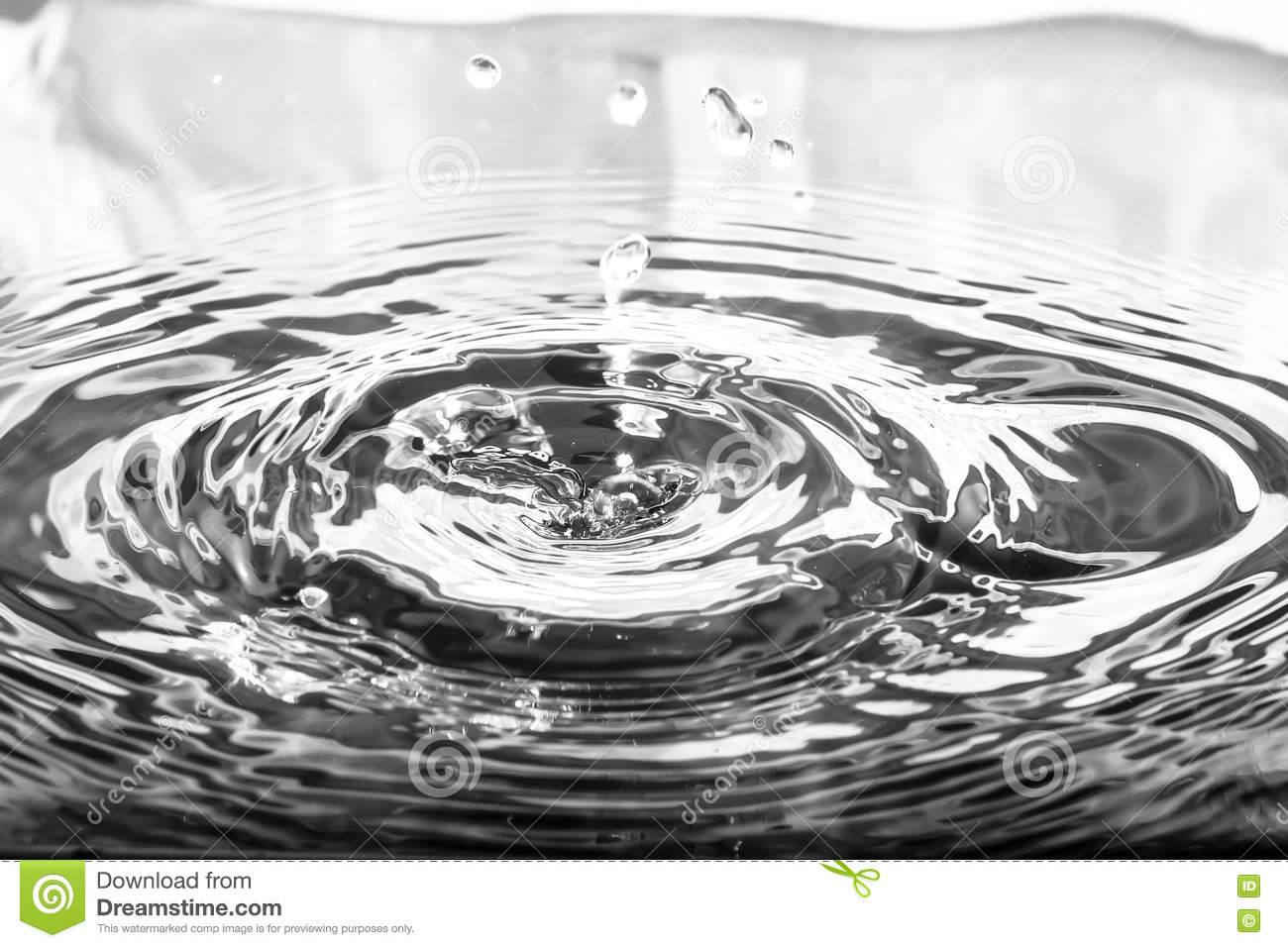 Liquid silver metal abstract background