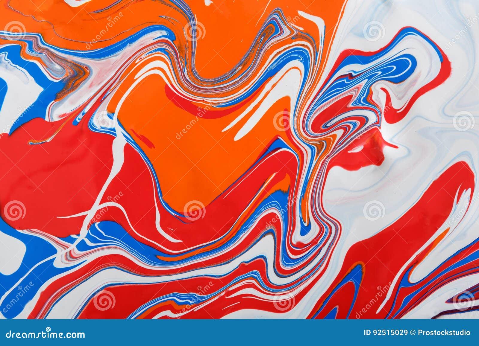 Liquido che marmorizza il fondo della pittura acrilica Struttura fluida dell estratto della pittura