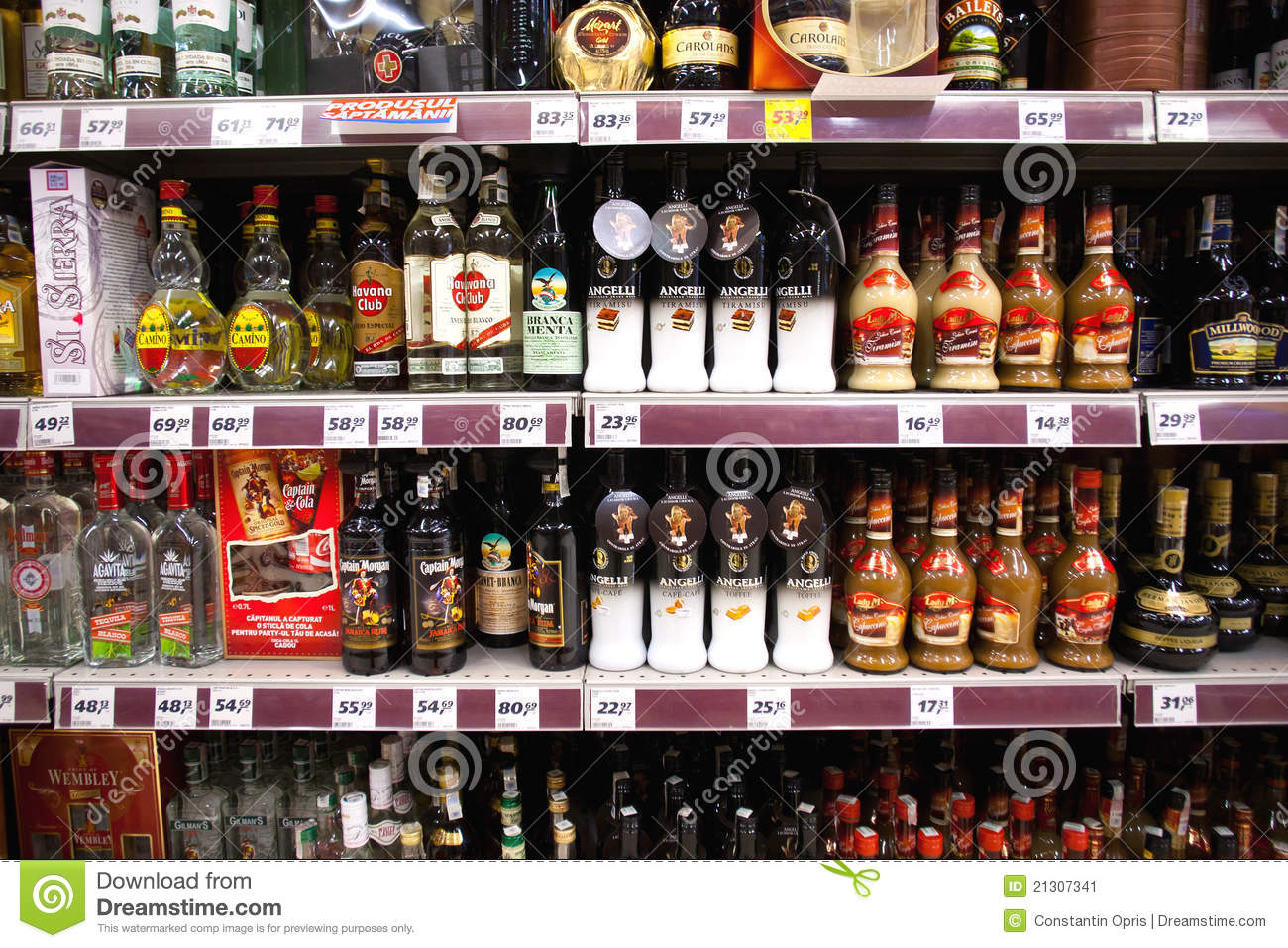 Liquor shelf in store editorial photo  Image of beverages