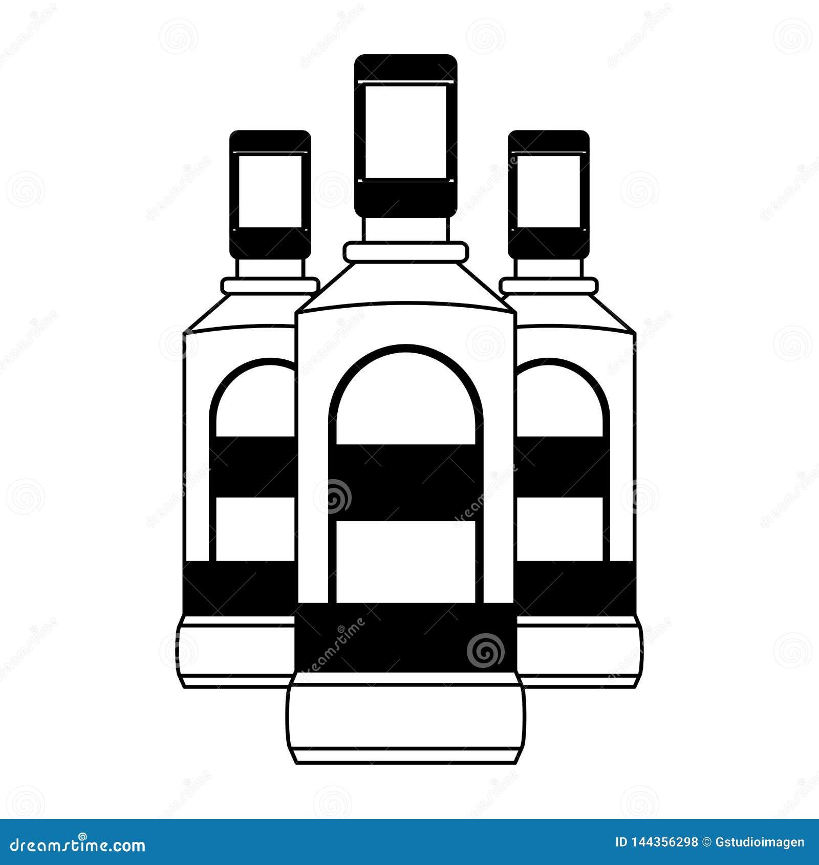 Liquore delle bottiglie di tequila