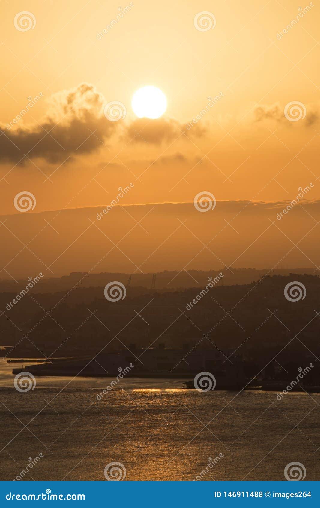 Lisboa no por do sol