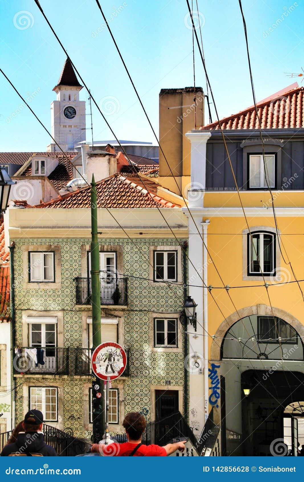 Elevator Da Bica In Lisbon Portugal Editorial Stock Photo Image
