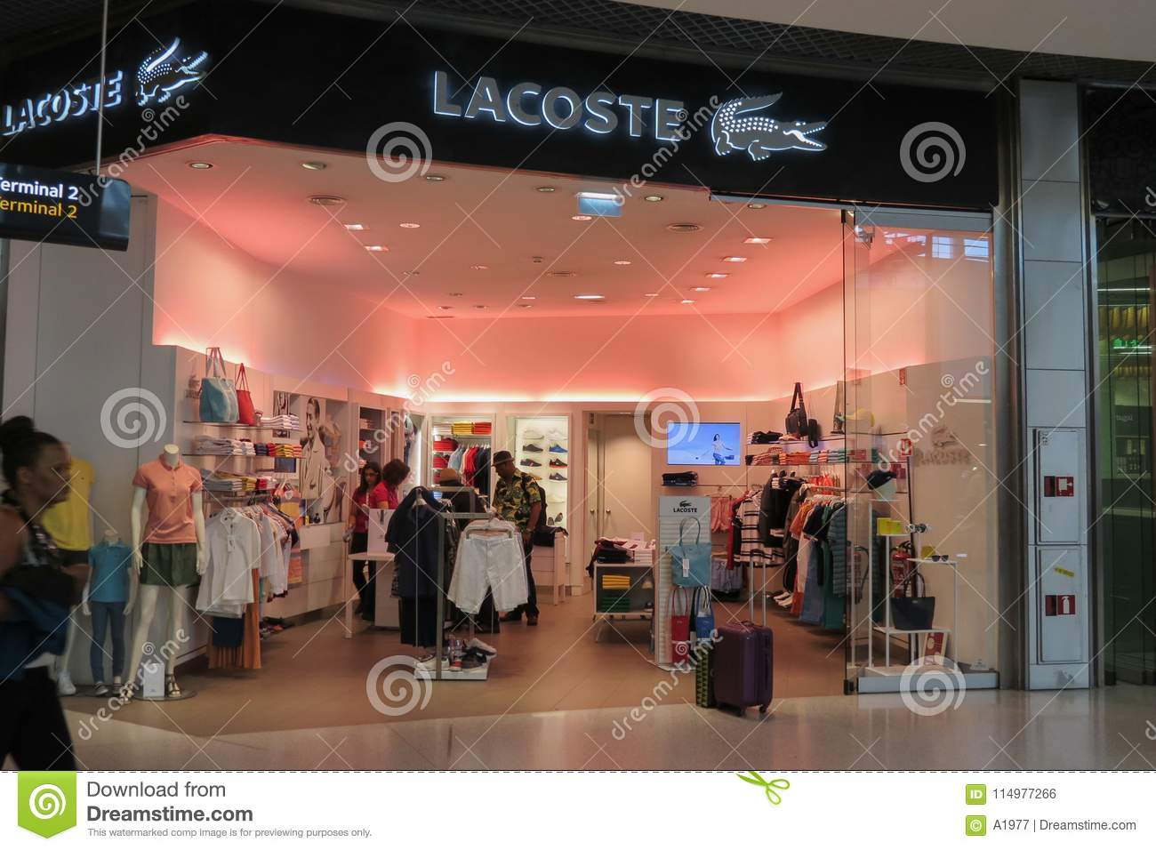 fd03960a8 Lacoste store editorial photo. Image of boutique