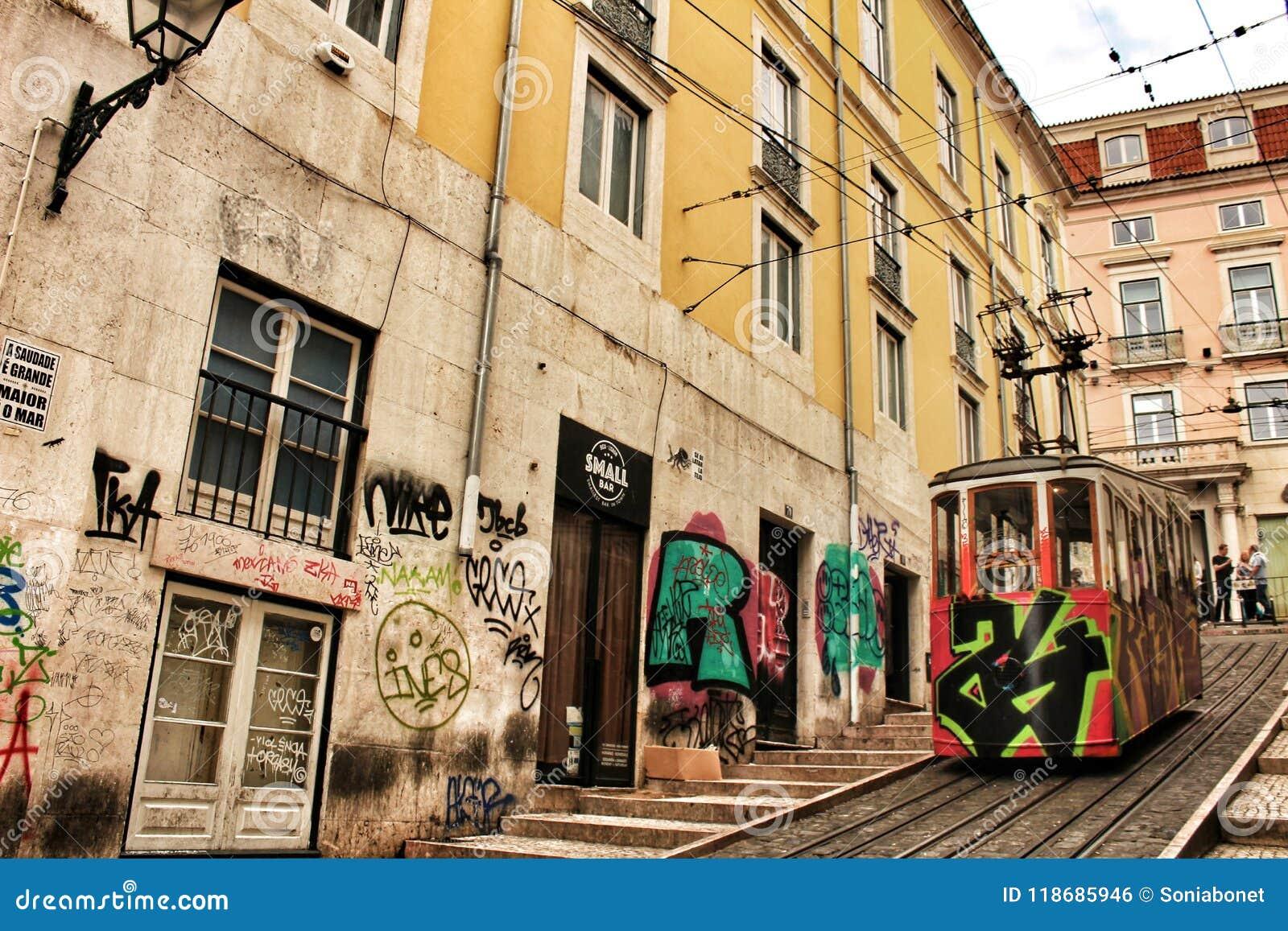 Elevator Da Bica In Lisbon Portugal Editorial Photo Image Of Bica