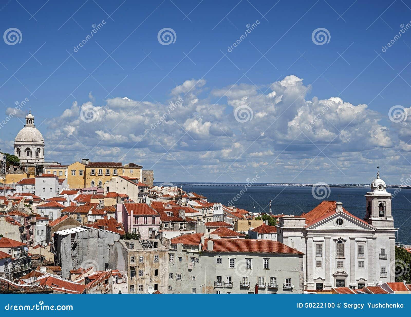 Lisbon portugal Observationsdäcket Portas gör solenoid