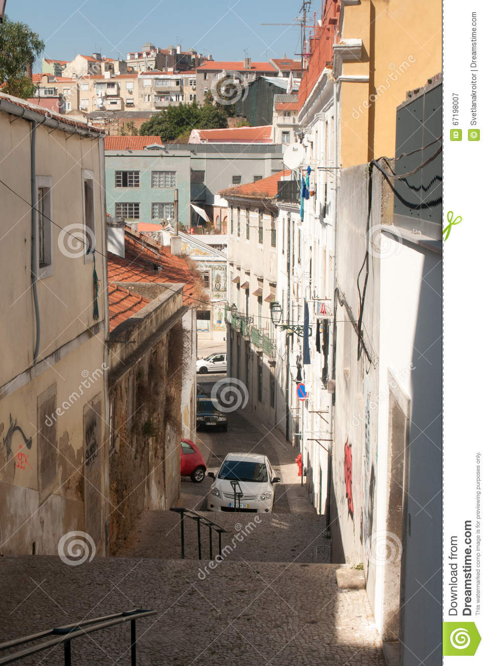 lisbon portugal september 22 2015 a street view of historic