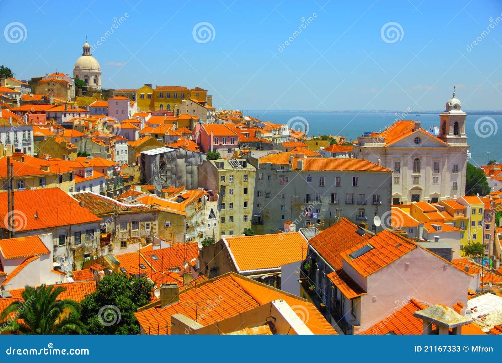 lissabon alte stadt portugal stockfotos bild 21167333. Black Bedroom Furniture Sets. Home Design Ideas