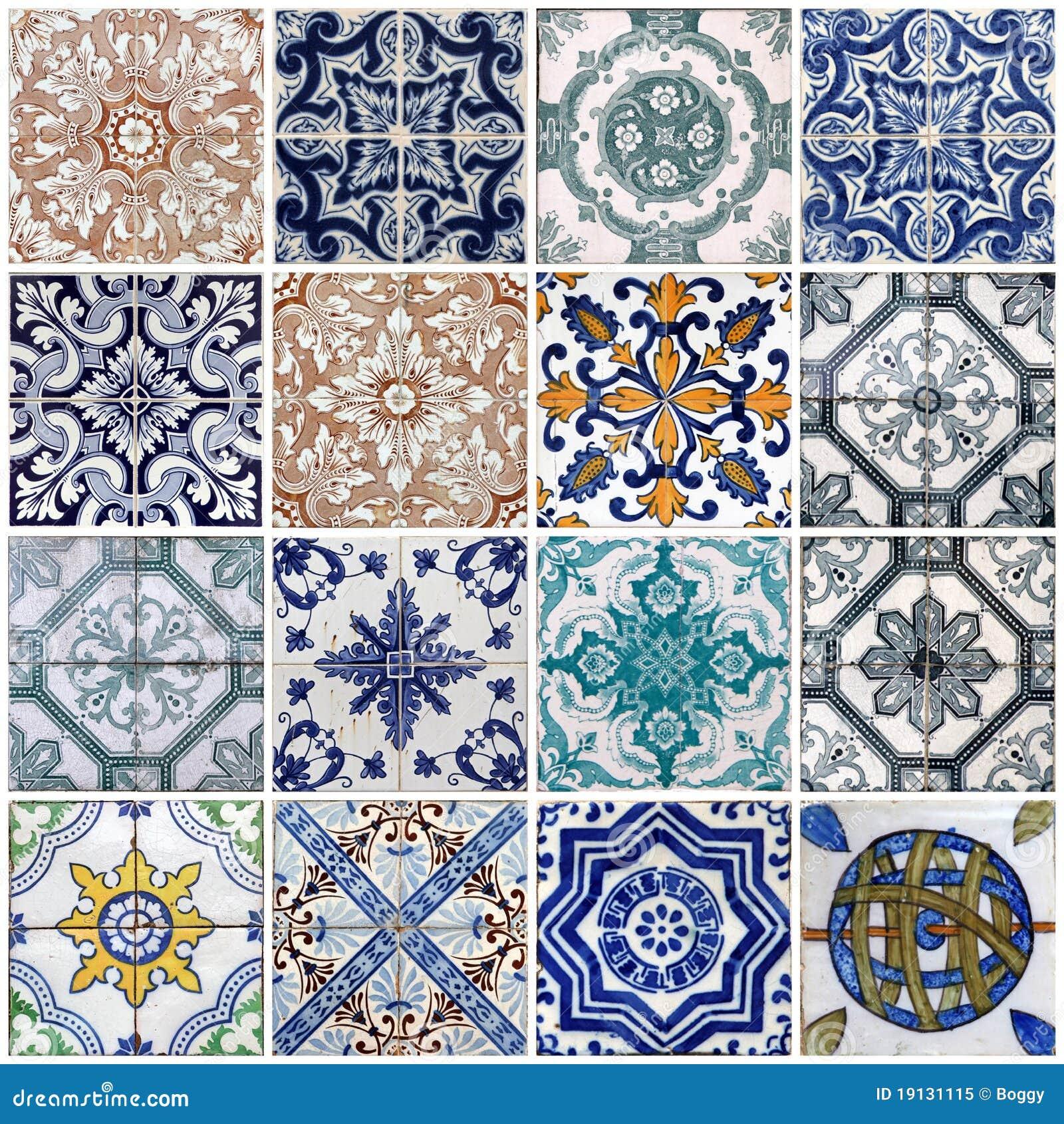 Lissabon fliesen lizenzfreies stockfoto bild 19131115 for Muster tapete