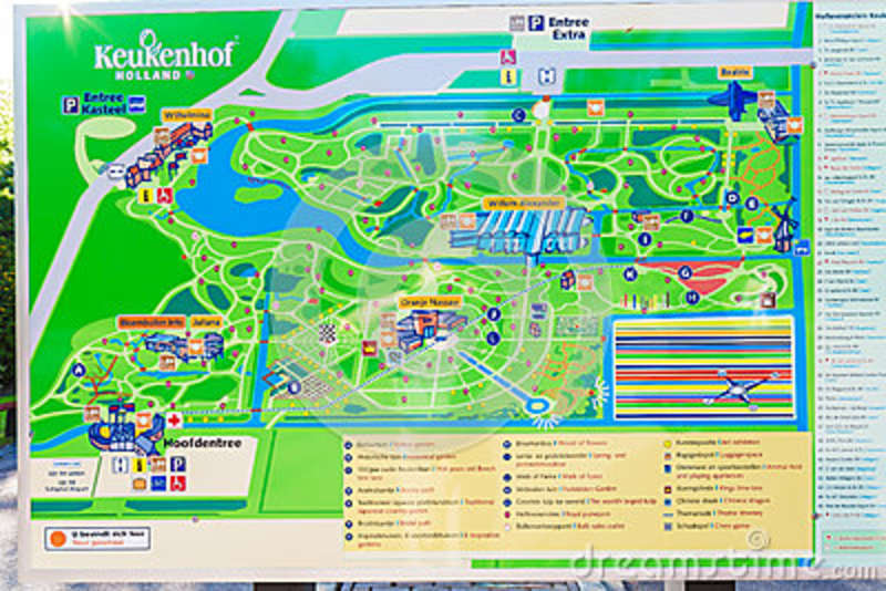 LISSE, NETHERLANDS - APRIL 4, 2008: Outdoor Map Stand In Keukenhof on north holland map, het loo palace map, van gogh museum map, limburg map, rijksmuseum map, hoek van holland map, utrecht map, randstad map, amersfoort map, den haag map, lisse holland map,