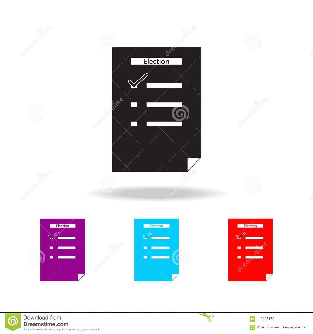 list of elections icon. Elements of election in multi colored icons. Premium quality graphic design icon. Simple icon for website