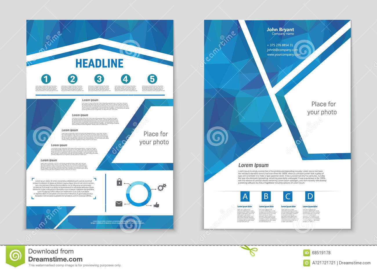 Book Cover Template Doc : List page mockup brochure theme style banner idea