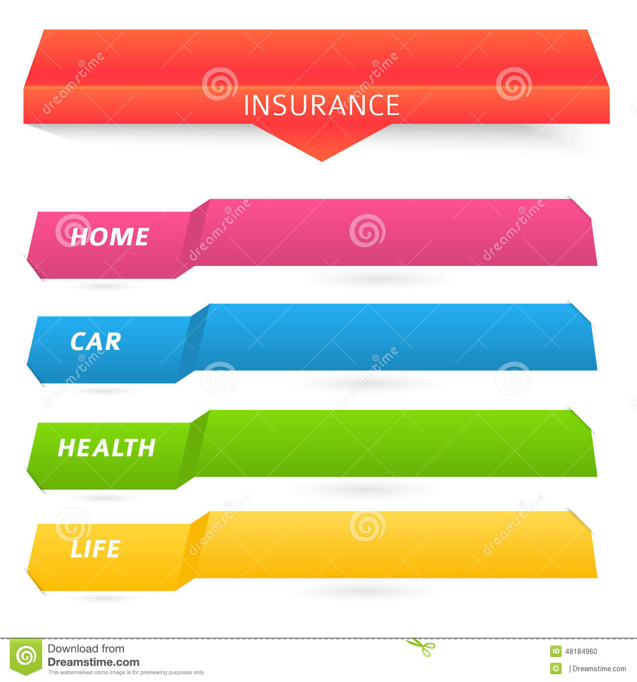 List of types of insurance services company stock vector for The design company