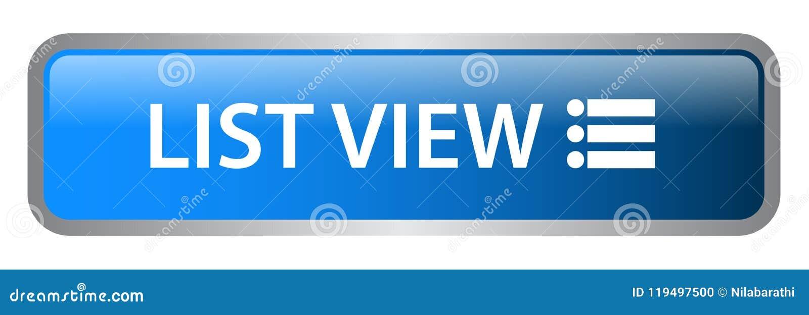List view web button