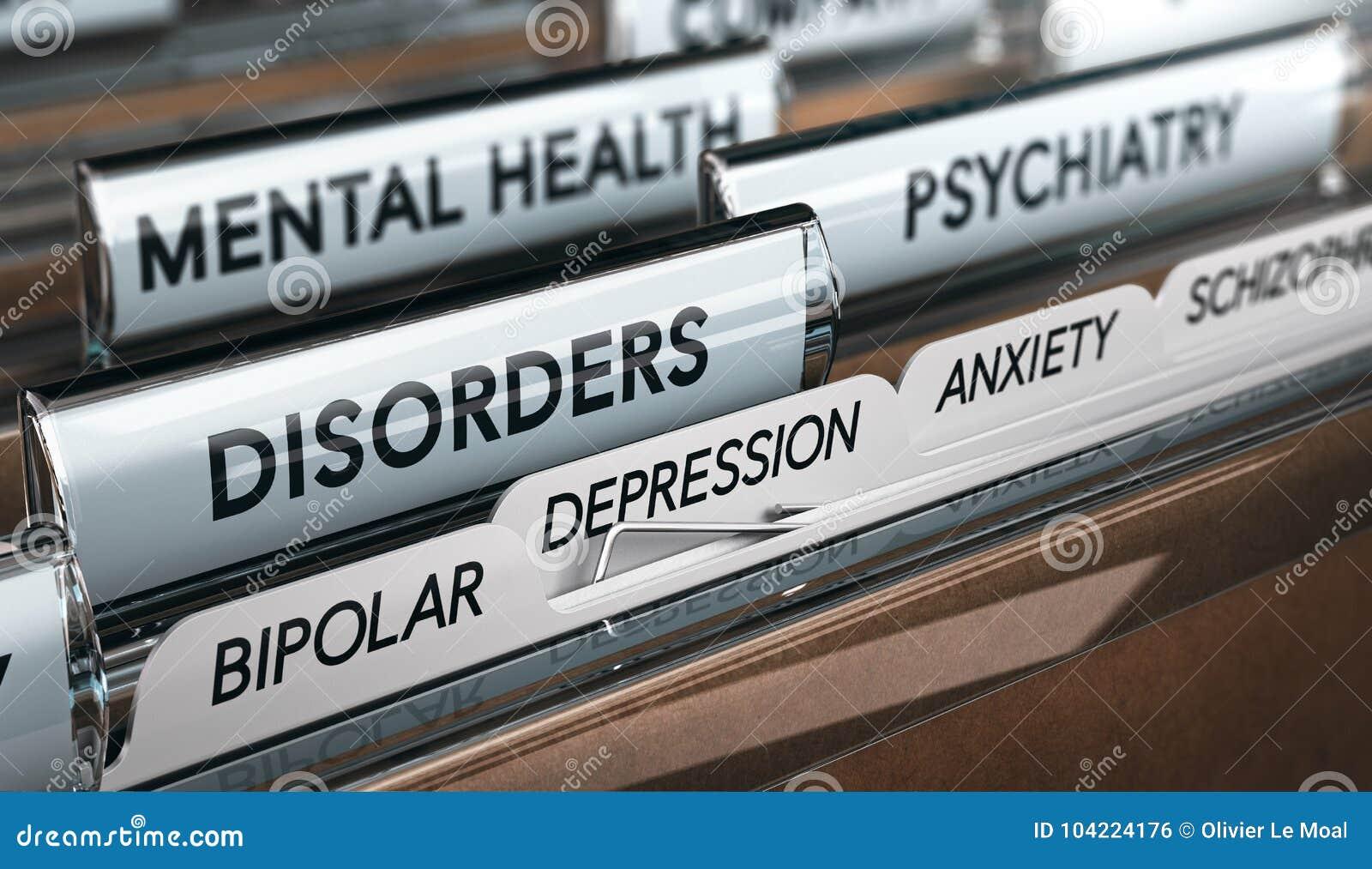 Lista de la enfermedad mental, desordenes psiquiátricos