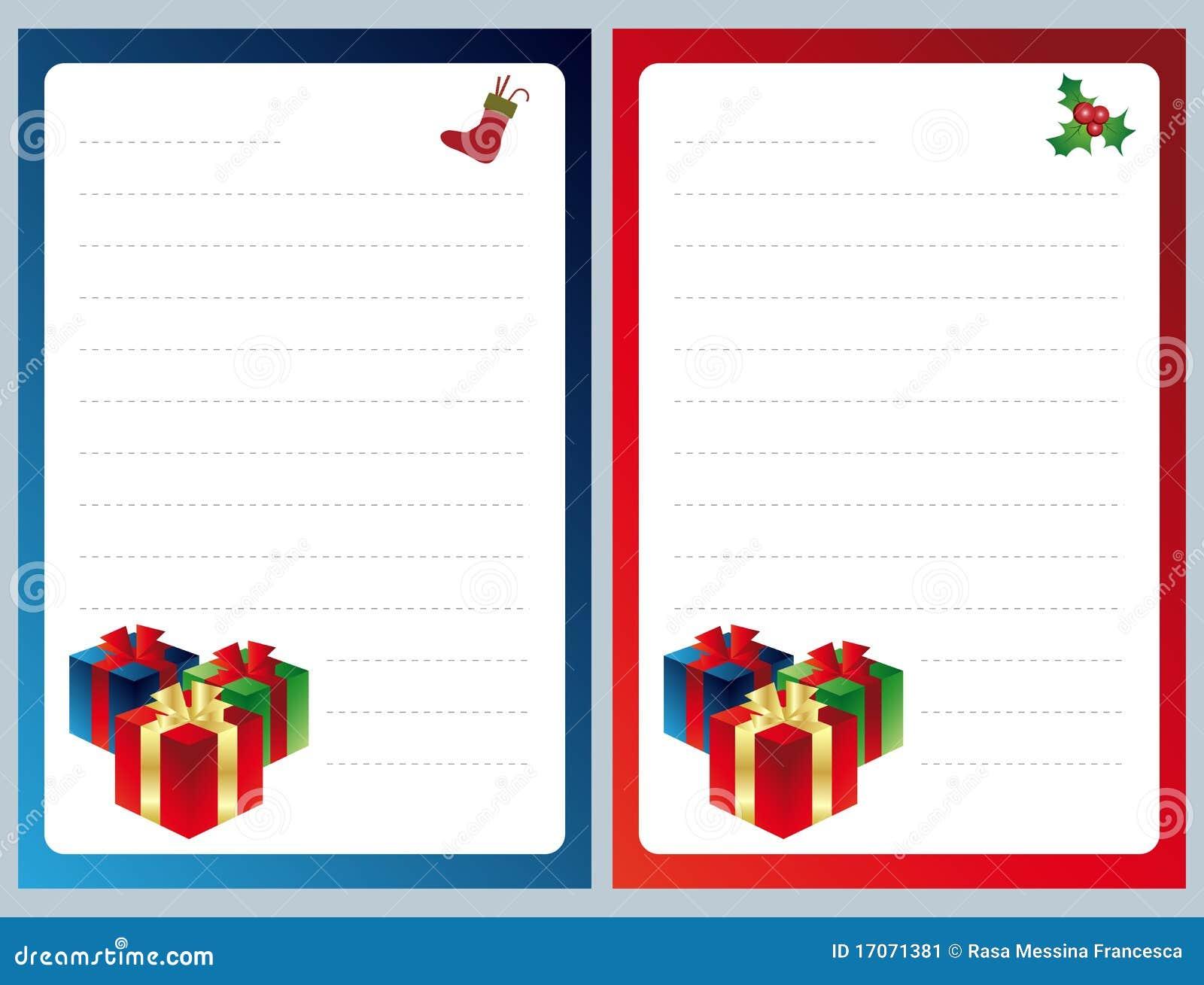 Lista De Objectivos Pretendidos Do Natal Imagem De Stock