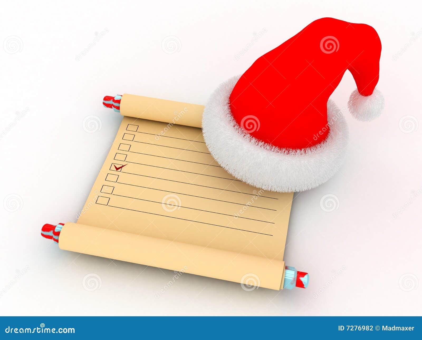 Lista de tarea del `s de Santa