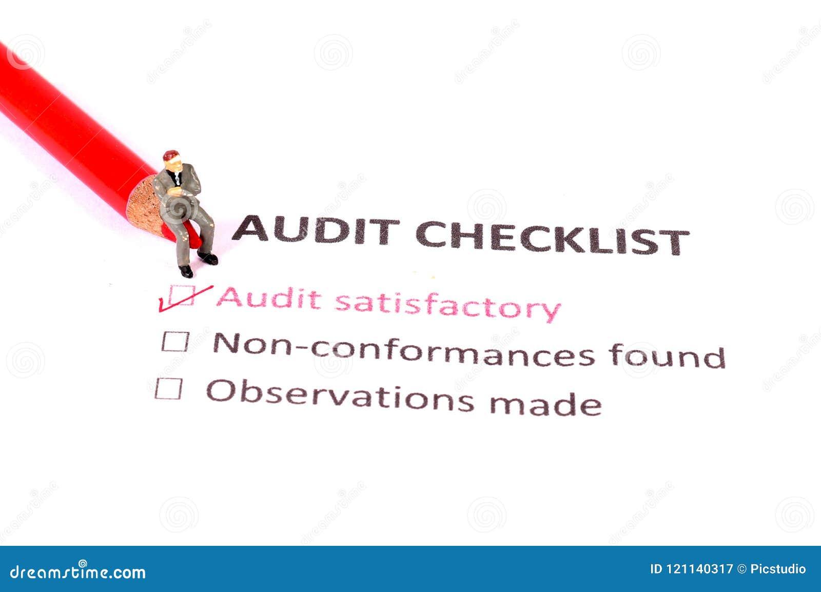 Lista de verificação da auditoria