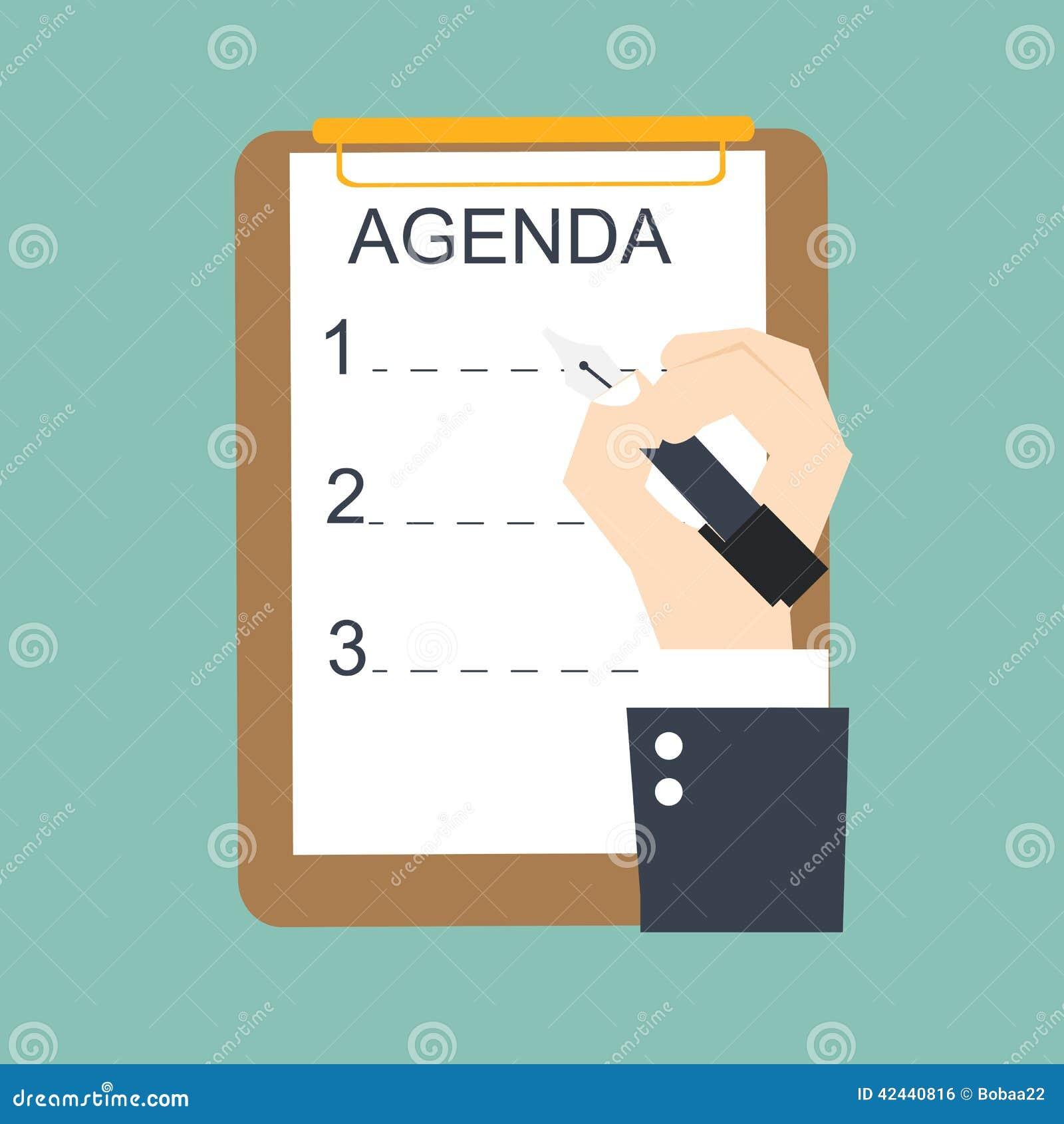 Lista del orden del día