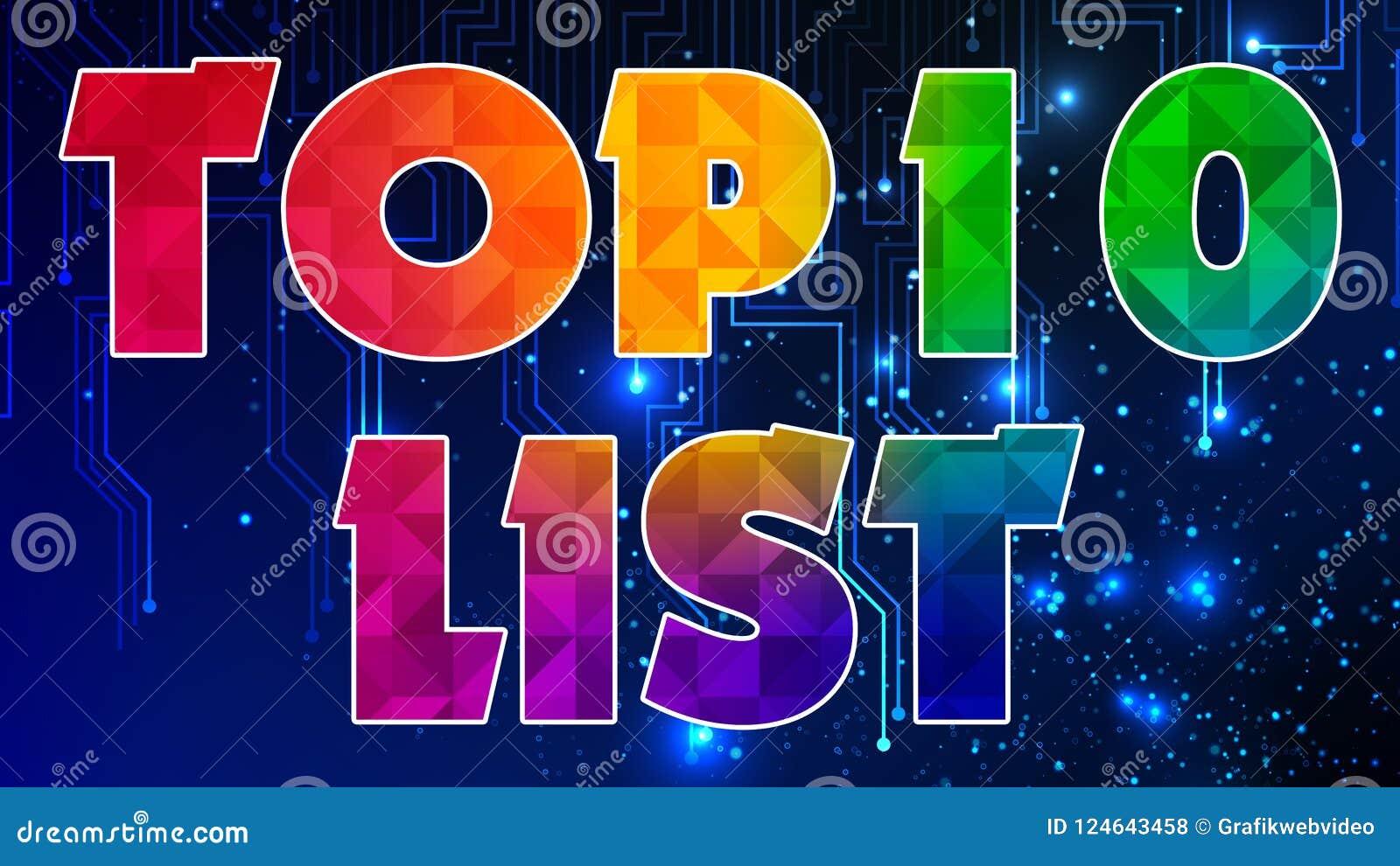 Lista 003 del principale 10 - grafico pronto