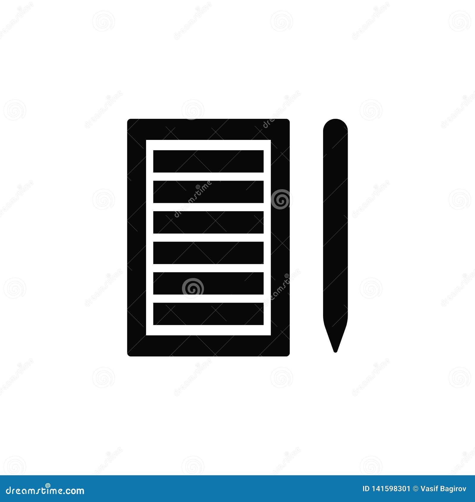 Lista di carta, matita, icona Elemento dell icona semplice per i siti Web, web design, app mobile, infographics Linea spessa icon