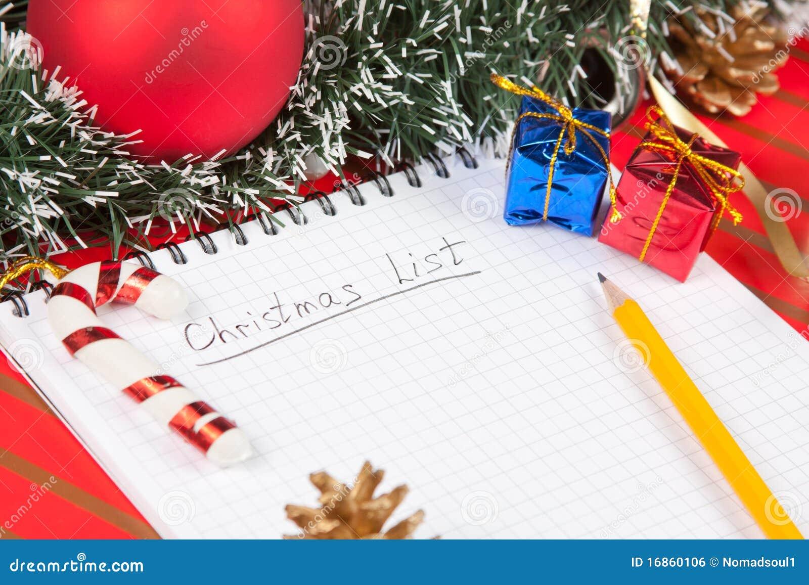 Lista e decoração do Natal