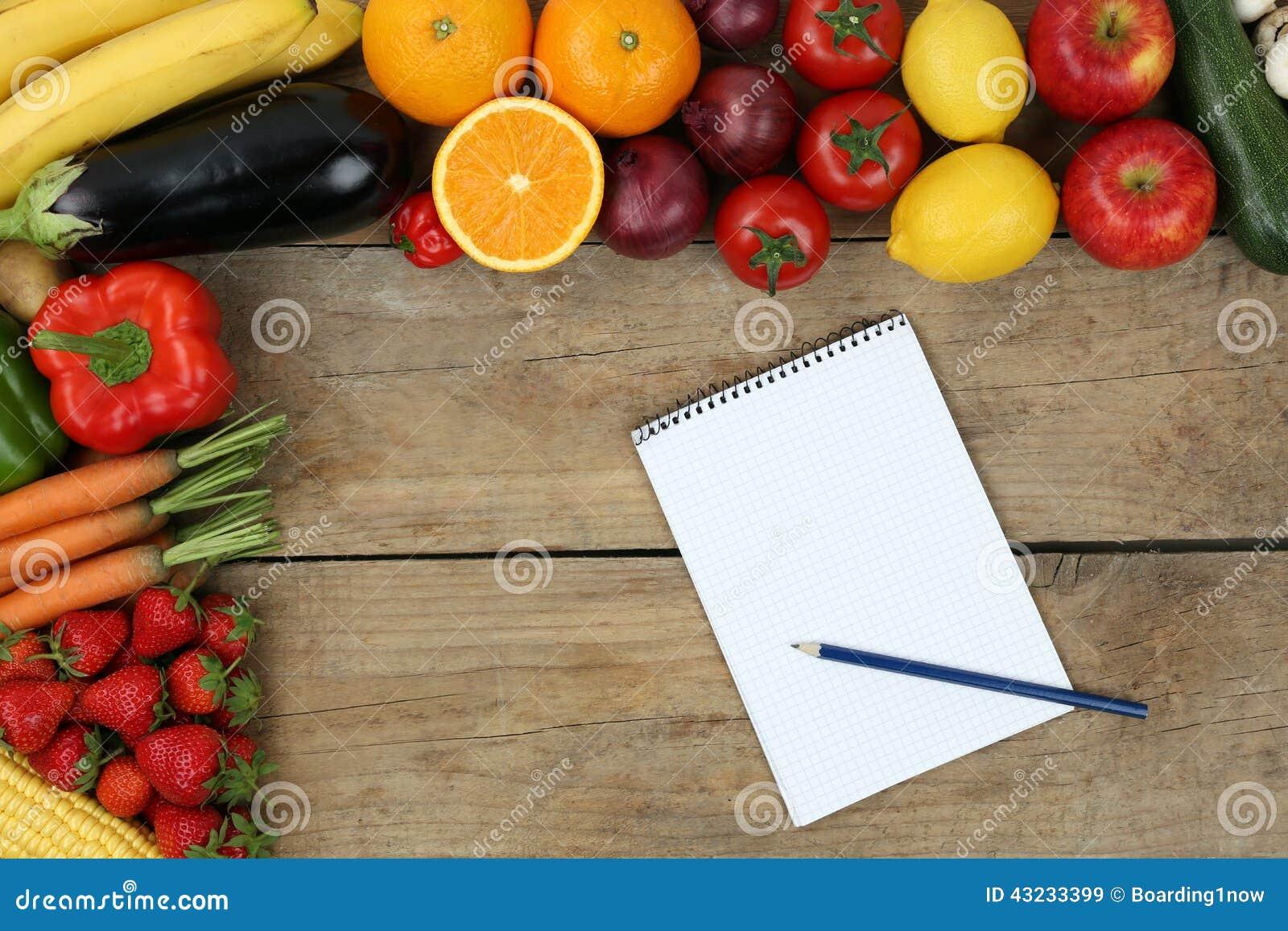 Liste d 39 achats avec des fruits et l gumes photo stock - Liste fruits exotiques avec photos ...