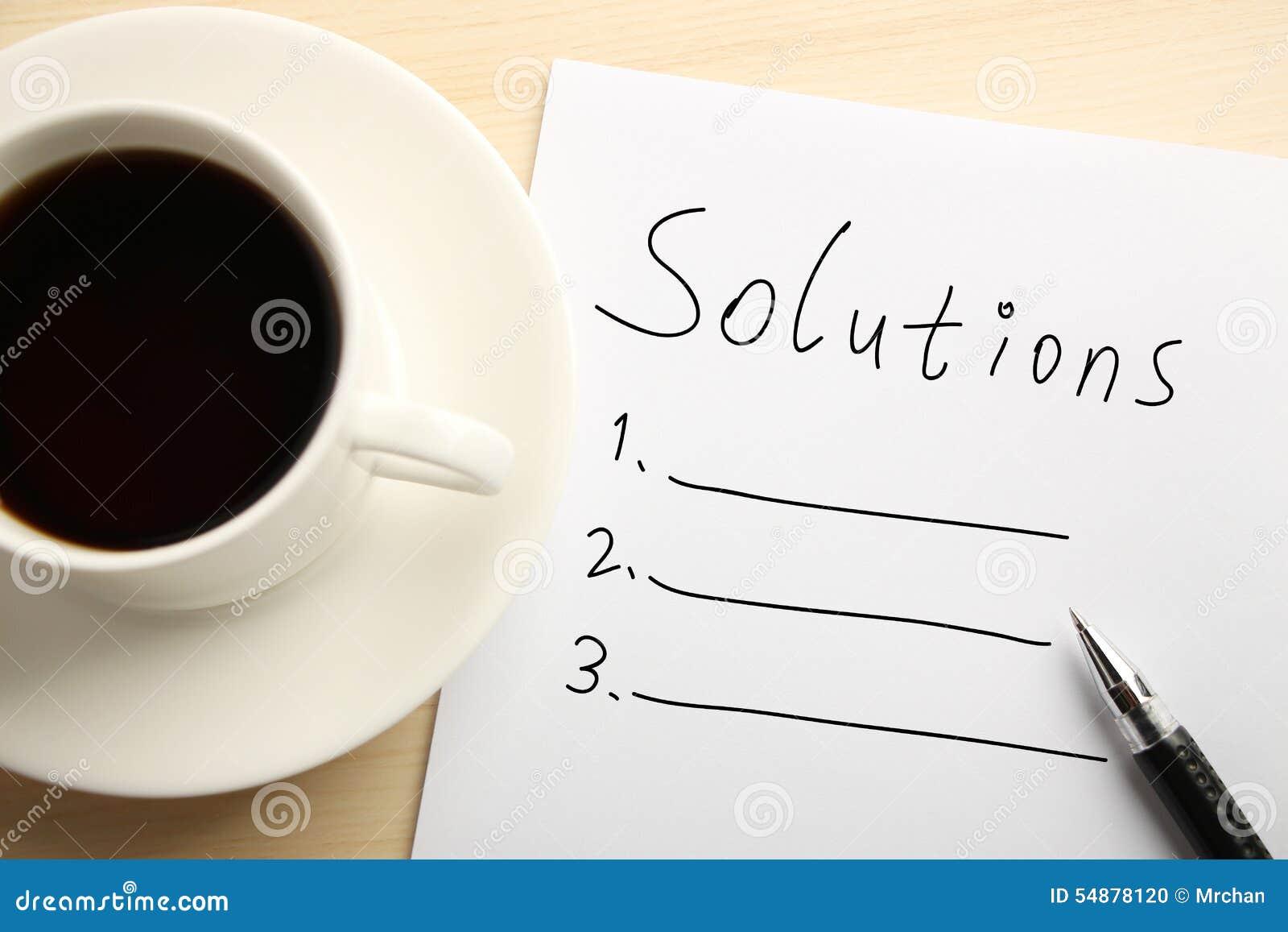 Liste de solution