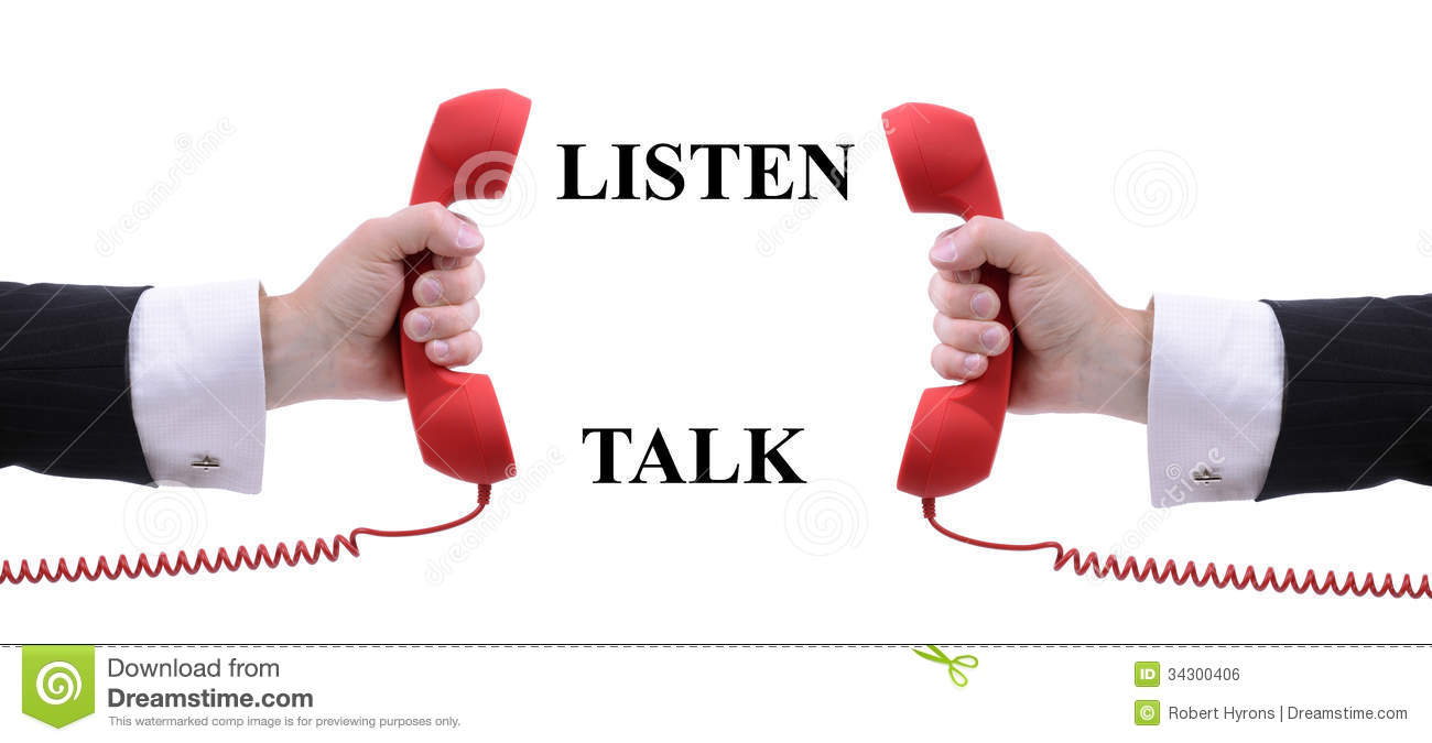 listen and talk royalty free stock image   image 34300406