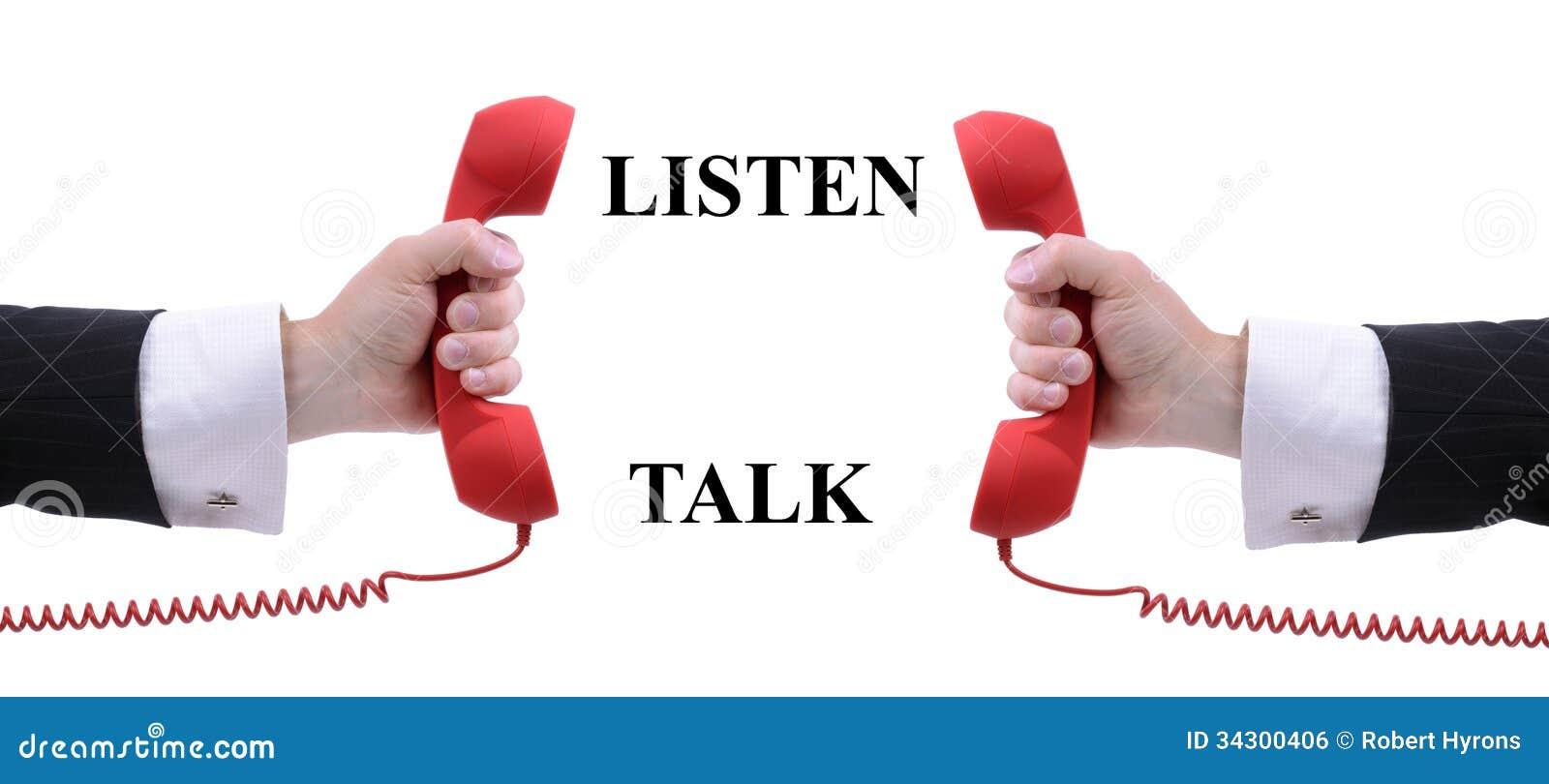 listen to a talk_Listen and talk stock photo. Image of caucasian, equipment - 34300406