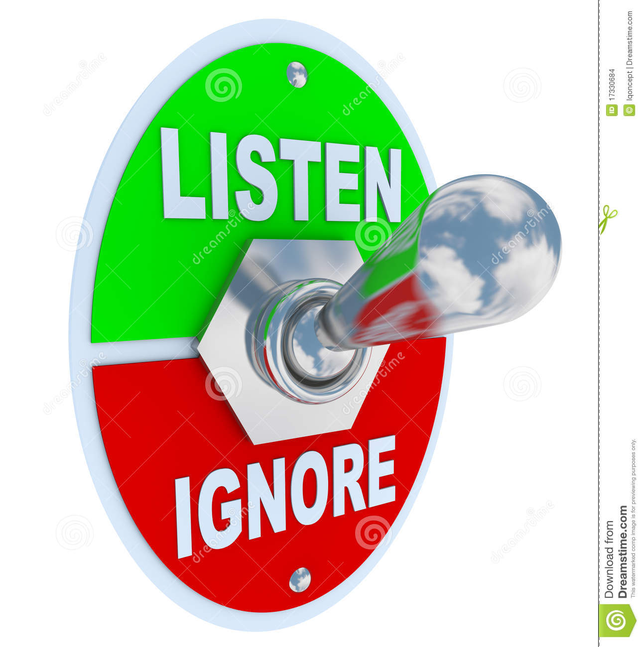 listen vs ignore toggle switch stock images image clip art reading bible clip art reading bible