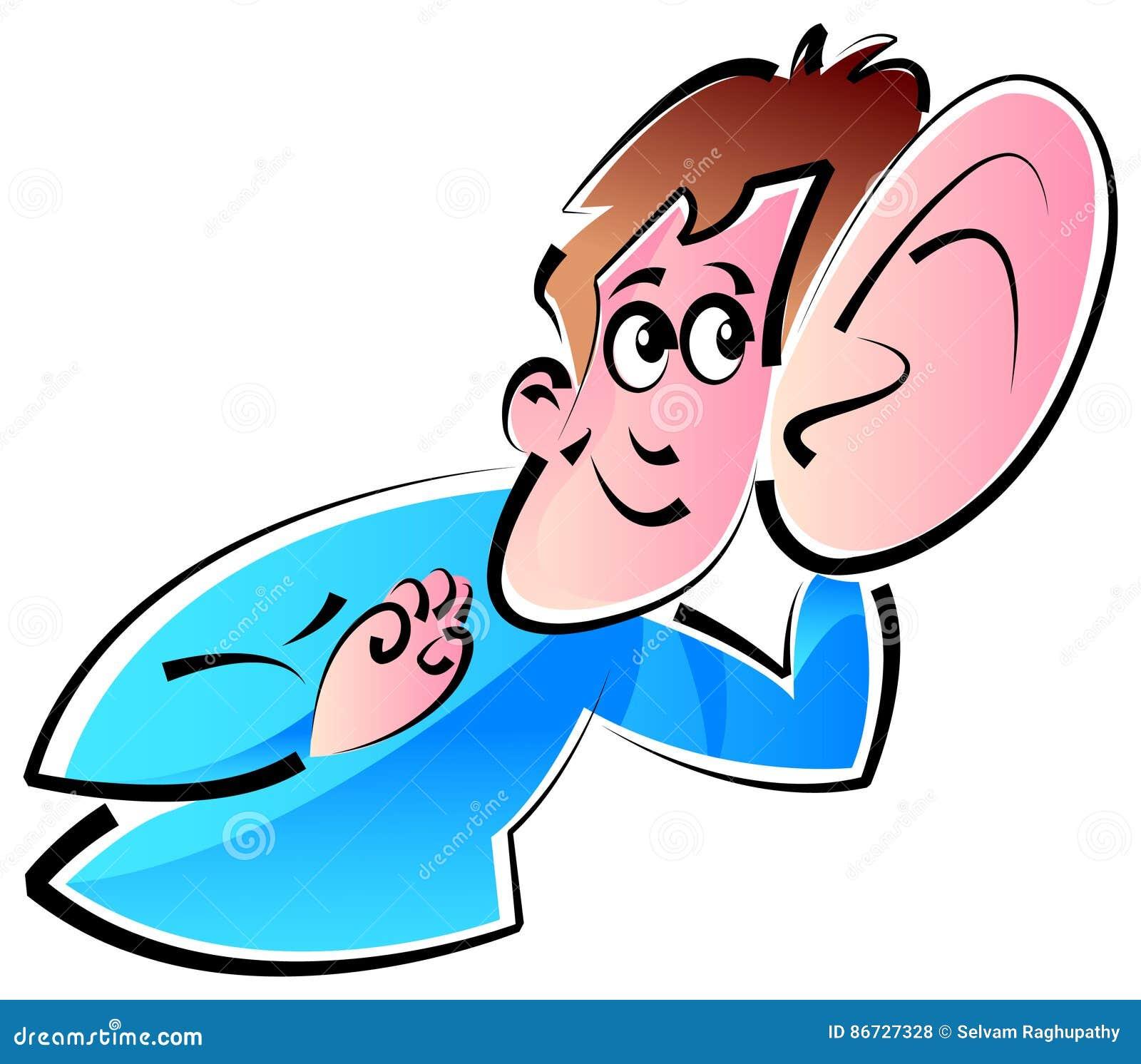 listening ear stock vector illustration of deafness 86727328