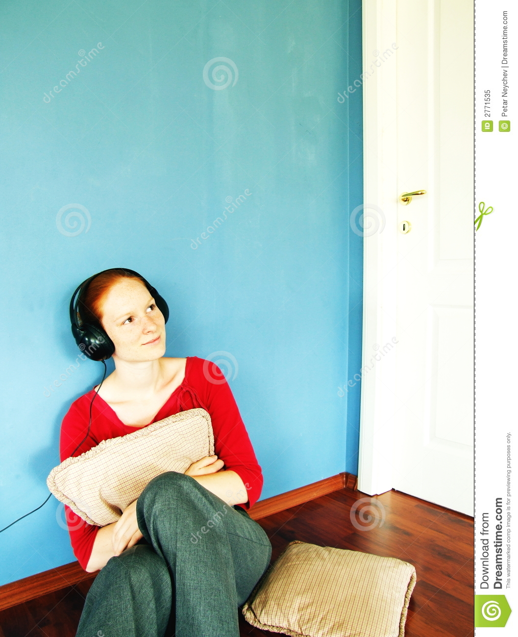 Listening to music at home royalty free stock photo for Listen to house music