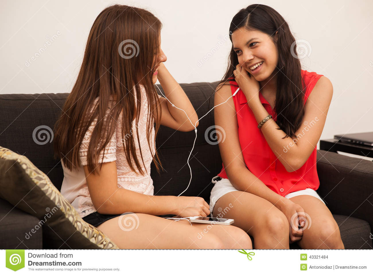 Listening To Music Together Stock Photo - Image: 43321484