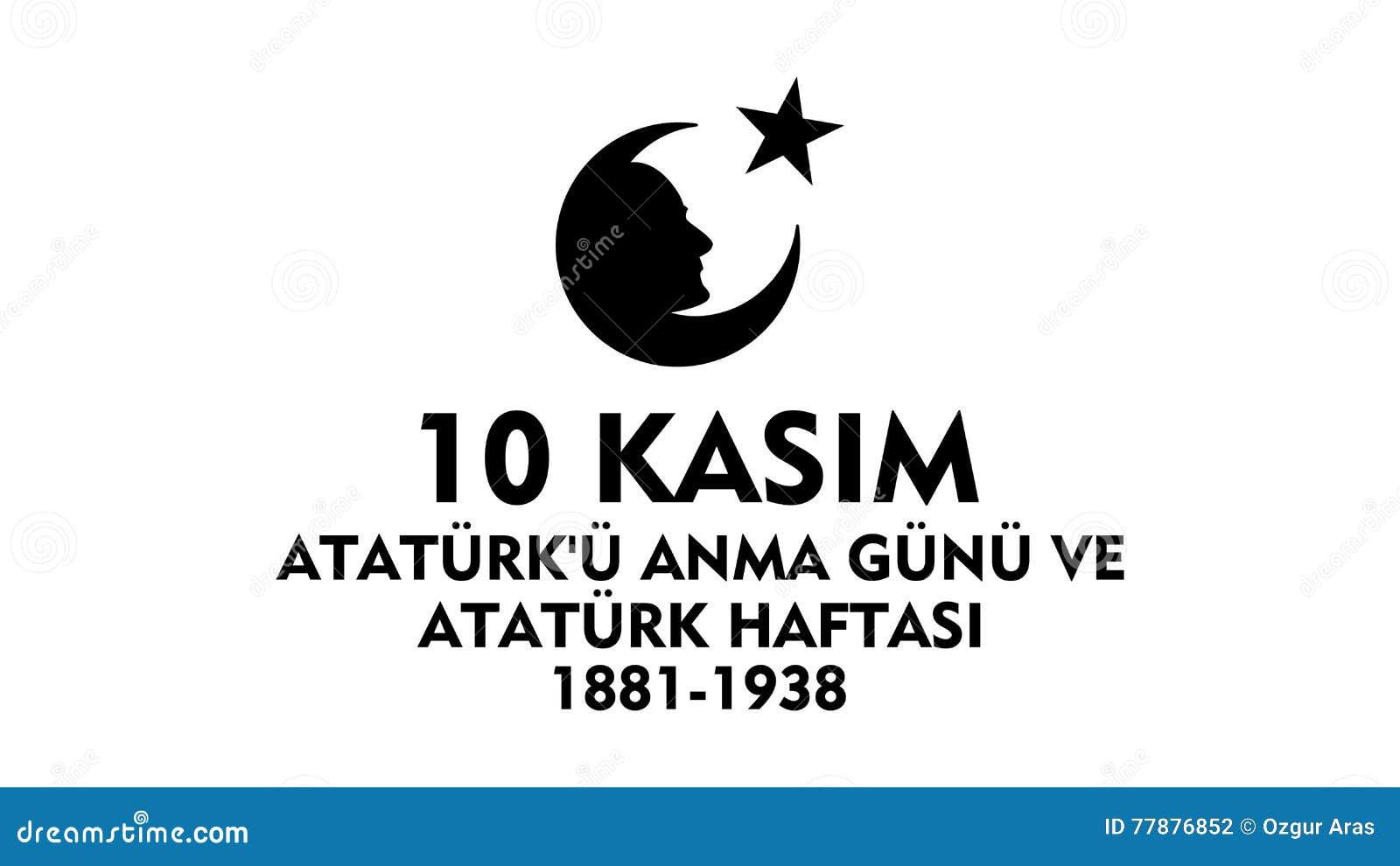 Listopadu 10 Ataturk uczczenia dzień