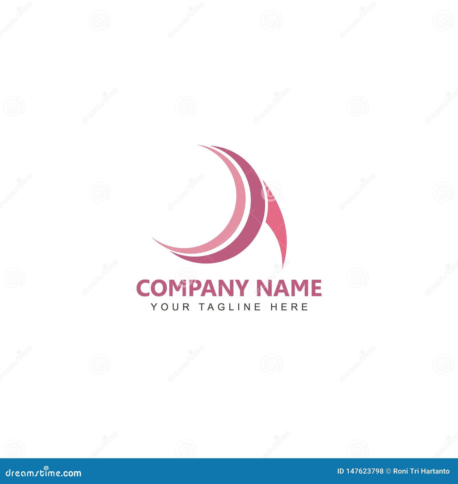 Listowego loga wektorowy projekt