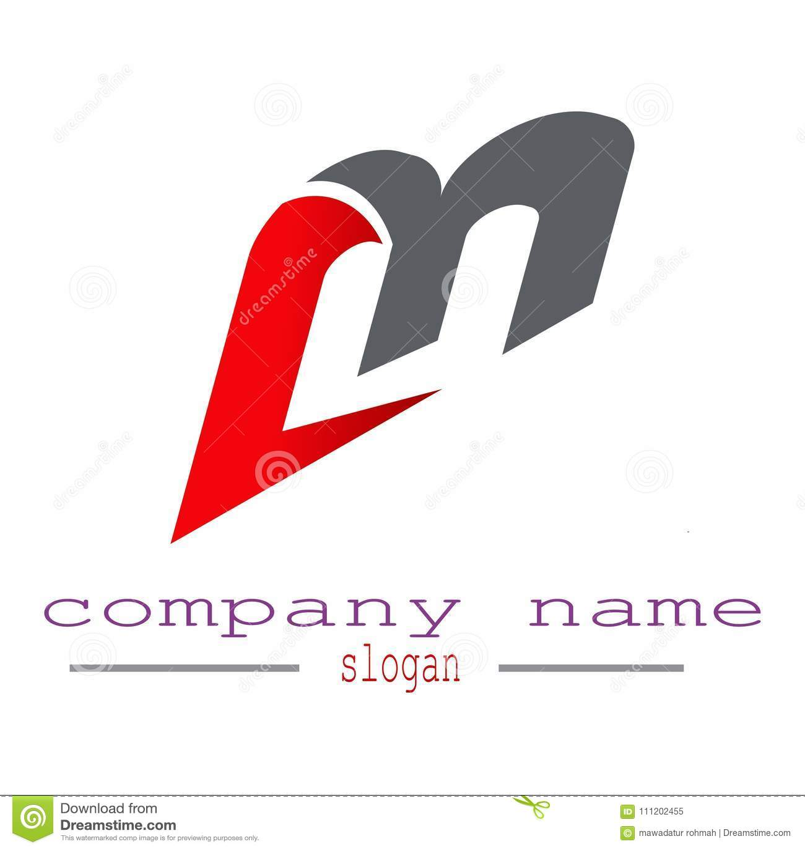 Listowy M loga wektor