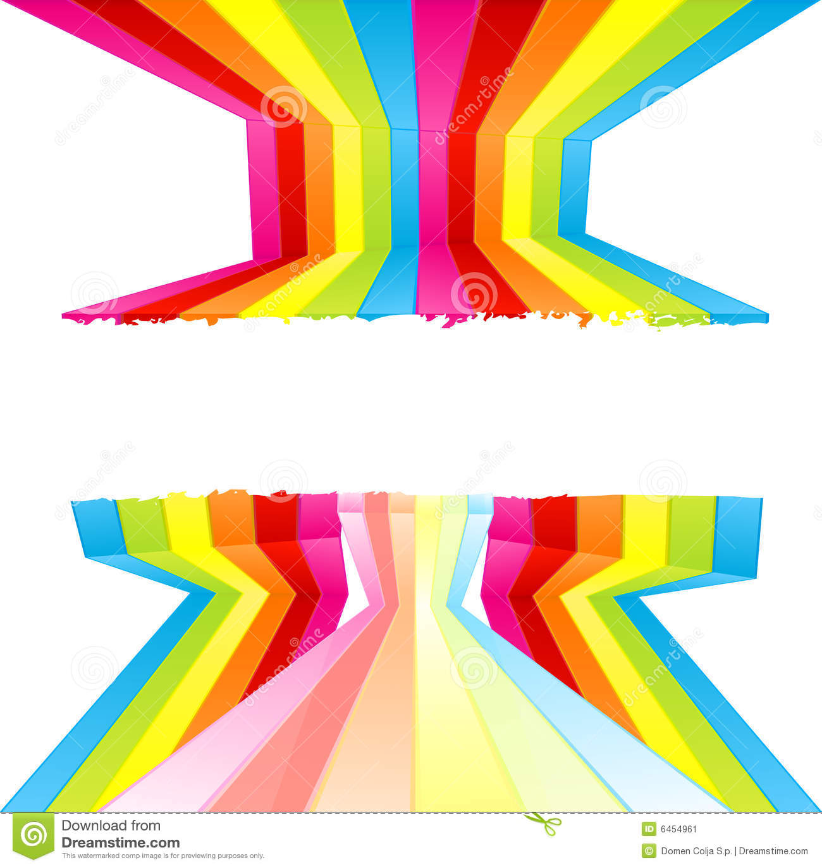 Listras coloridas pintura da parede de Grunge