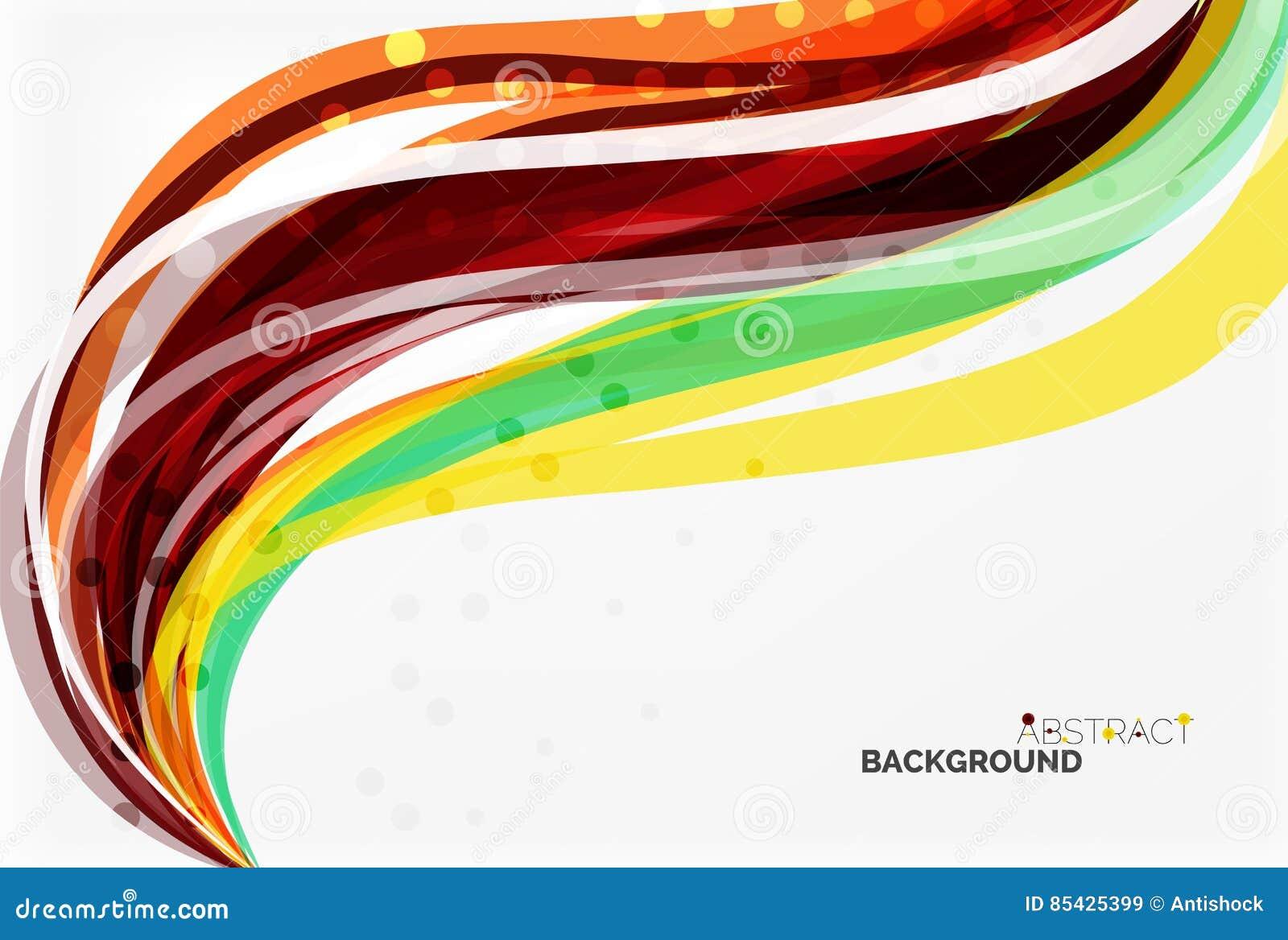 Listras e linhas coloridas da onda