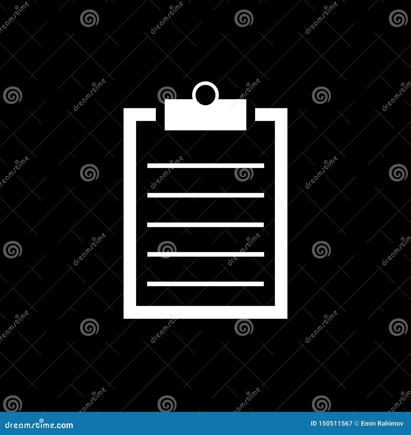 Listy kontrolnej ikona - wektorowa ilustracja